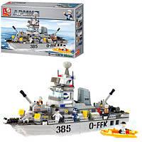Конструктор SLUBAN M38-B0125 армія, корабель, фігурки, 461дет., кор., 57-37,5-9 см