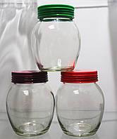 Набор стеклянных банок Geneve с пластиковой крышкой 3 шт на 350 мл EverGlass 1305-К