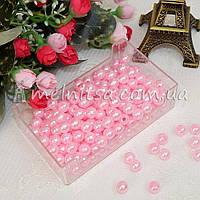 Бусины перламутровые розовые, 8 мм (50 шт)