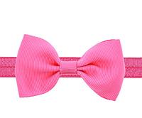 Повязка на голову для девочки Бантик цвет розовый