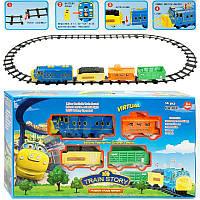 """Железная дорога 3021 """"Чаггингтон"""" (12) звук, свет, на батарейке, в коробке(и7)"""