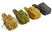 Рюкзак тактический патрульный однолямочный 5386: объем 30л, размер 42х25х20см