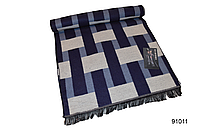 Синий мужской кашемировый шарф на осень