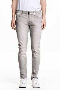 Джинси H&M DIVIDED Man - Classic Skinny Gray2 (мужские джинсы)