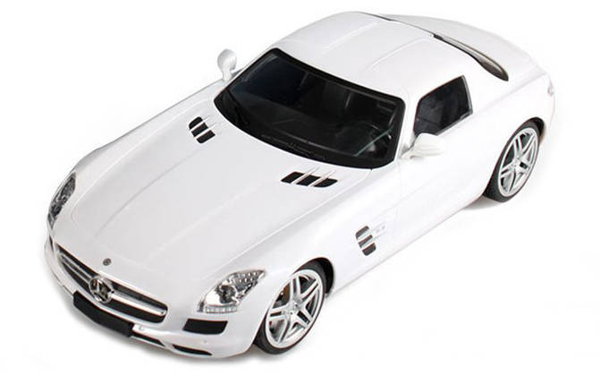Машинка р/у 1:14 Meizhi лиценз. Mercedes-Benz SLS AMG (белый), фото 2