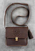 """Бохо-сумка кожаная """"Лилу"""" Орех. Ручная работа, фото 1"""