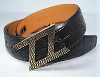 Ремень кожаный Zilli (черный)