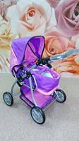 Детская коляска для куклы 9672 Мелого Melogo розово-фиолетовая