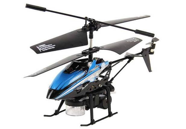 Вертолёт 3-к микро и/к WL Toys V757 BUBBLE мыльные пузыри (синий), фото 2