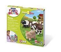 """Подарочный набор Фимо Fimo KIDS """"Ферма"""", 4шт.+стек+инструкция"""