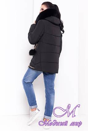 Женский черный зимний пуховик (р. XS, S, M, L, XL) арт. Айлин 16981, фото 2