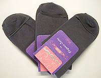 Носки без резинки высокие медицинские женские серого цвета