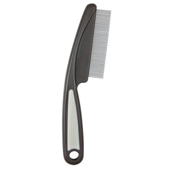 """TRIXIE Расческа """"Люкс"""" с частым зубом для вычесывания блох с пластиковой ручкой для кошки, 15см"""