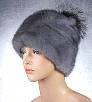 Женская меховая шапка Гномик из норки