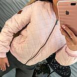 Женская демисезонная черная и розовая куртка-бомбер, фото 6