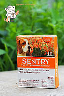 Сентри собак. 7-15кг.кап на хол (блохи. клещи, комары) 1.5мл 1 пипетка  (№3), Sentry, США