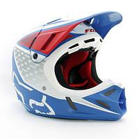 Мотошлем FOX V4 REED OUTDOOR REPLICA helmet бело-красно-синий , XL