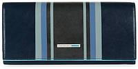 Оригинальный женский кожаный кошелек Piquadro с двумя отделениями PD3211B2SER_BLU синий