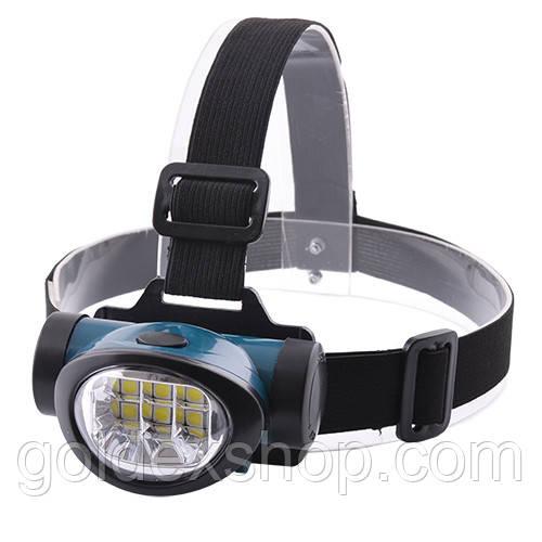 Ліхтар на лоб пластик 603/ 6 SMD