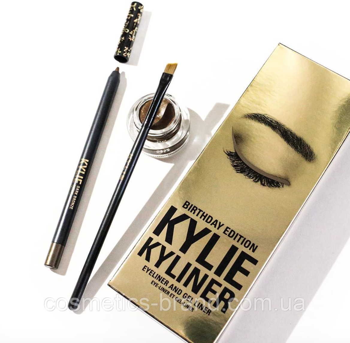 Гелева підводка Kylie Kyliner Dark Bronze (репліка)