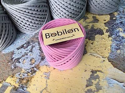 Трикотажная пряжа Bobilon Medium (7-9мм). Пыльная роза 50м.