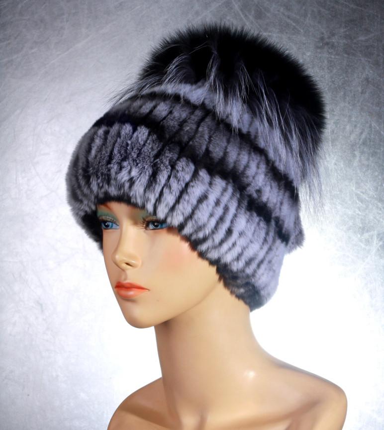 Женская меховая шапка Фонарик-Гамма из рекса