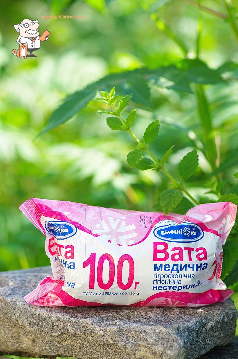 Вата (100 г)  ролик Белоснежка - Интернет Ветаптека 33 коровы в Харькове