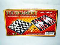 Набор 3 в 1 шашки/шахматы/нарды 9833