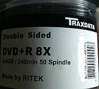 DVD +R 9,4Gb 8x Bulk 50 pcs DoubleSide Traxdata двусторонние