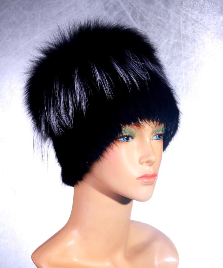 Женская меховая шапка Одуванчик из ондатры