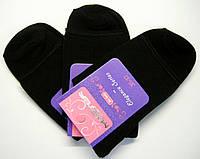 Носки медицинские женские без резинки высокие черного цвета