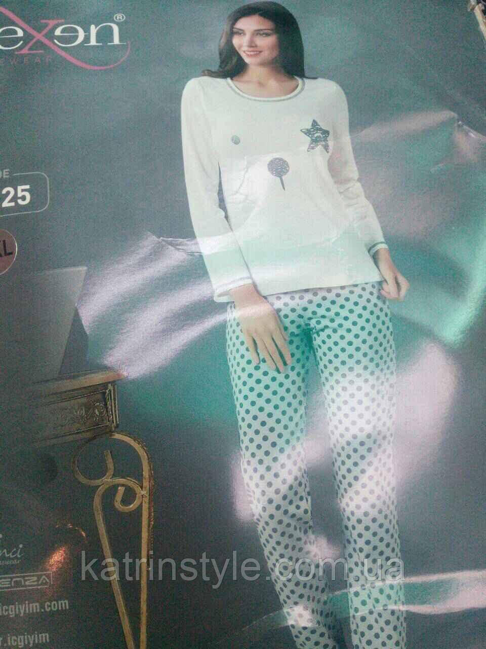 Пижама женская штаны в горошек