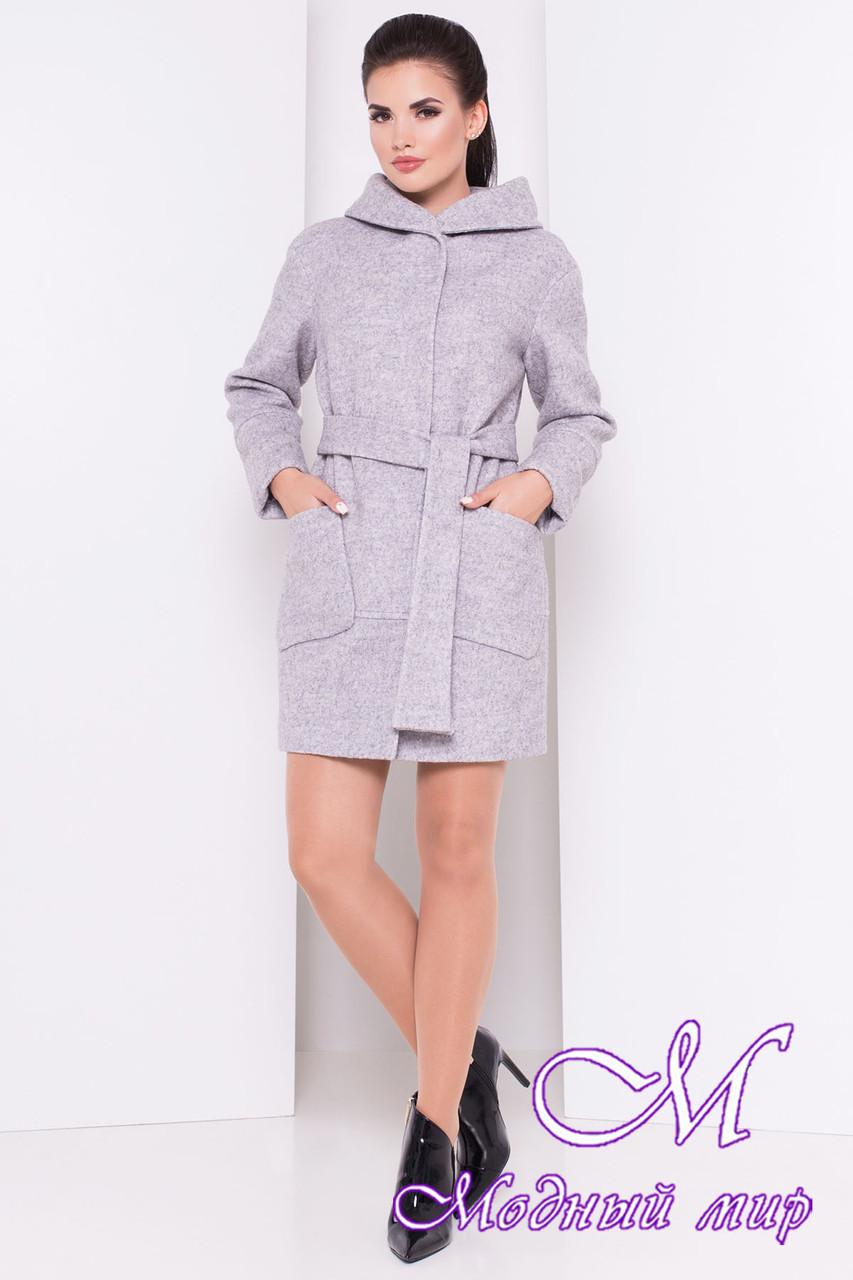 Весеннее женское пальто с капюшоном (р. S, M, L) арт. Анита 3299 - 16838