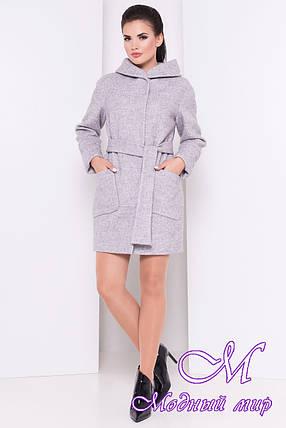 Весеннее женское пальто с капюшоном (р. S, M, L) арт. Анита 3299 - 16838, фото 2