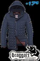 """Куртка подростковая зимняя Braggart """"Teenager"""" (светло-синяя с чёрным)"""