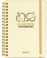 Блокнот Mintra Golden&Silver A6 в линию 80 листов Золото (92652G)
