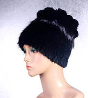 Женская меховая шапка «Ананас» из ондатры