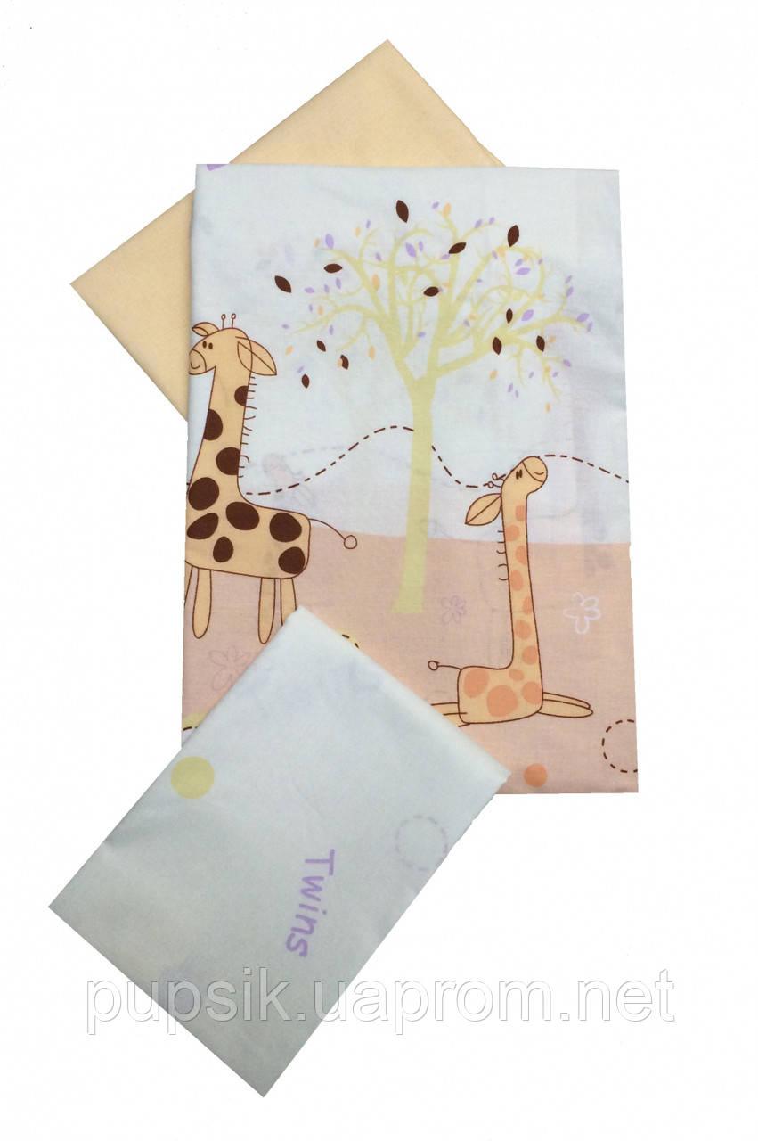 Сменная постель в кроватку Twins Comfort Жирафы (3 предмета) 024