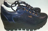 Туфли женские демисезонные LORRI 2115 синие VADD