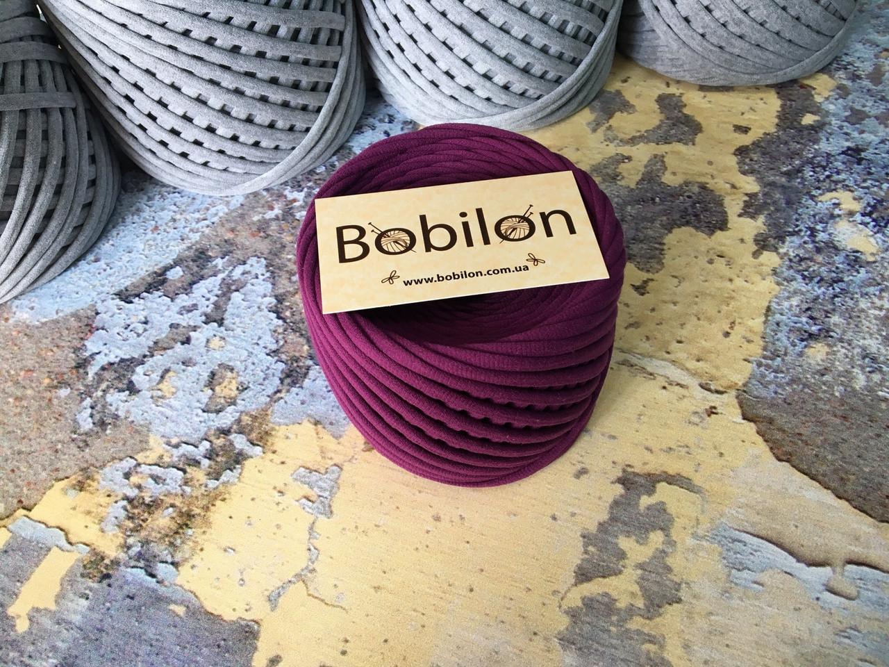 Трикотажная пряжа Bobilon Medium 7-9мм Plum Pie Сливовый 50 метров