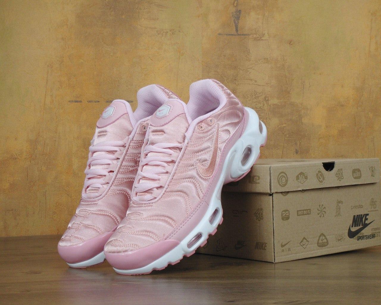 64a30b920d7446 Кроссовки Nike Air Max Tn+ 1 Satin Pack Pink. Топ качество! Живое фото  (Реплика ААА+)