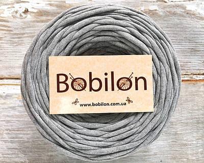 Трикотажная пряжа Bobilon Medium (7-9мм). Серый меланж 50м.