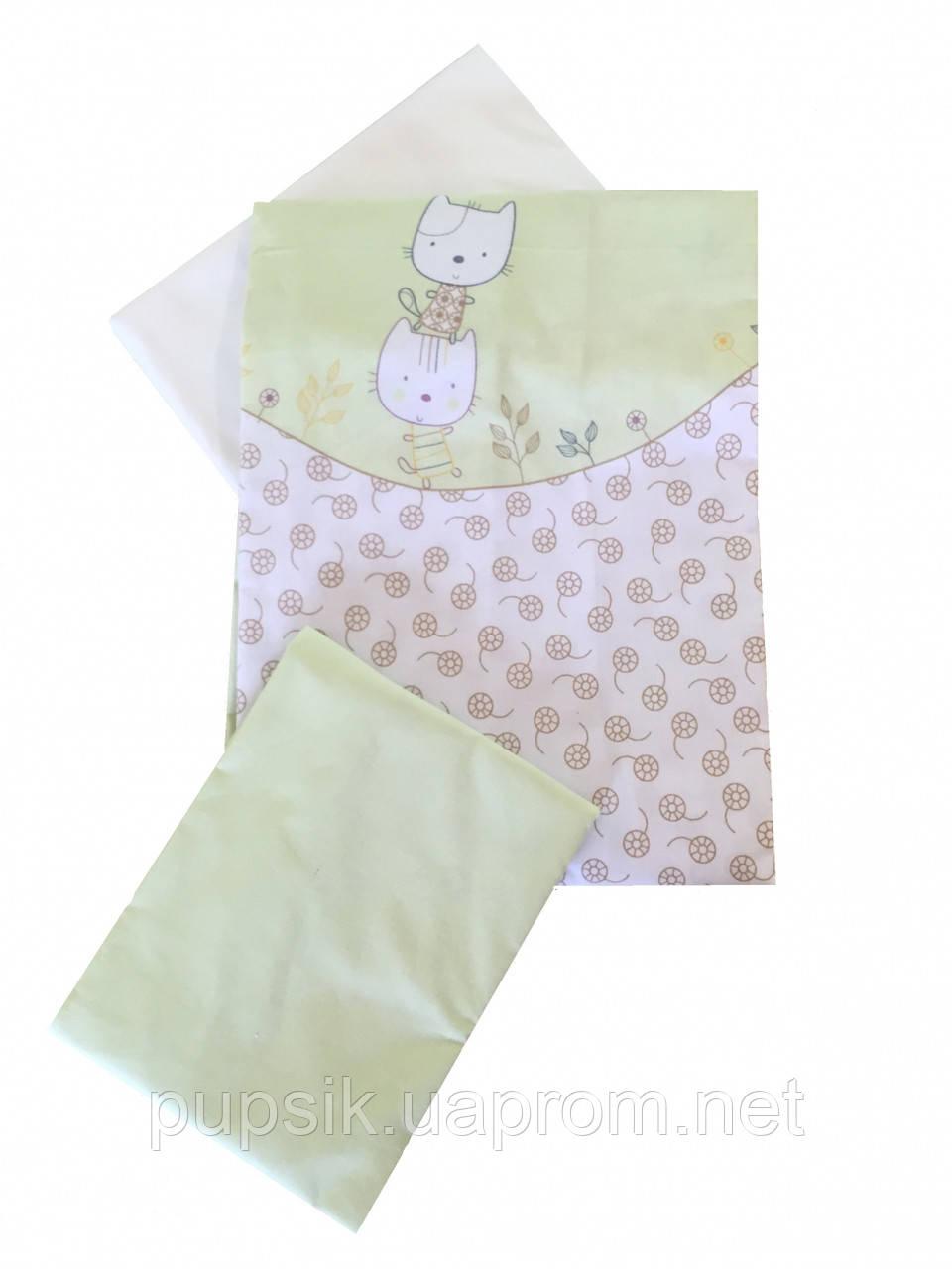 Сменная постель в кроватку Twins Comfort Котики (3 предмета)