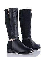 Модные женские черные сапожки (р36-40)