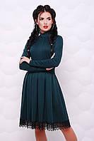 Темно-зеленое платье Трикси FashionUp 42-48  размеры