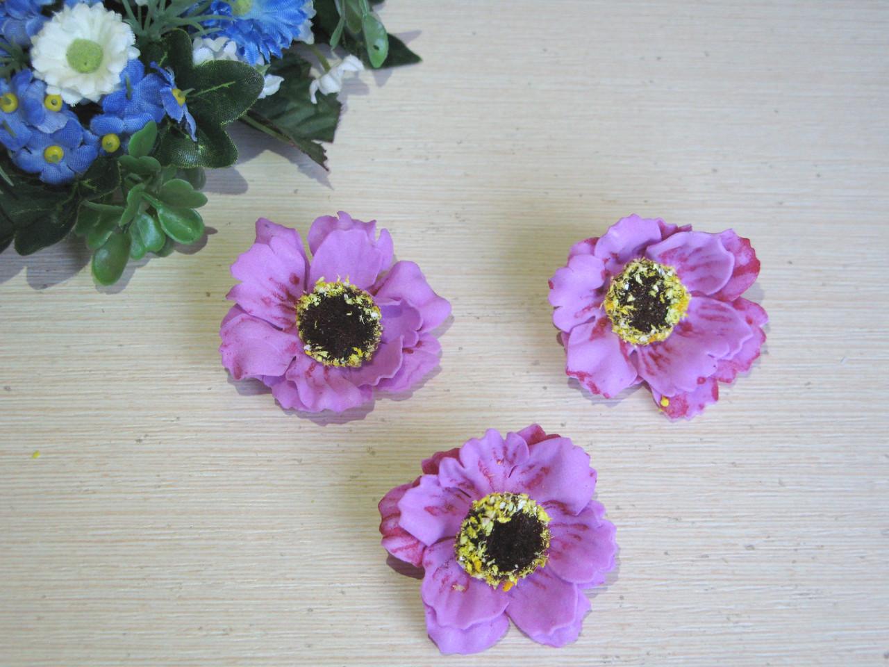 Маки из латекса лиловый