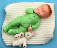 """Молд кондитерский силиконовый для мастики """"Малыш с зайчиком"""""""