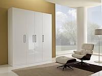Платяной распашной шкаф с фасадами белый глянец
