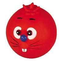 Игрушка для собак Мяч - кот 9см   /  DE011