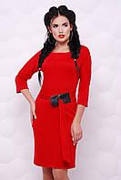 Трикотажное красное платье Lukia FashionUp 42-48  размеры